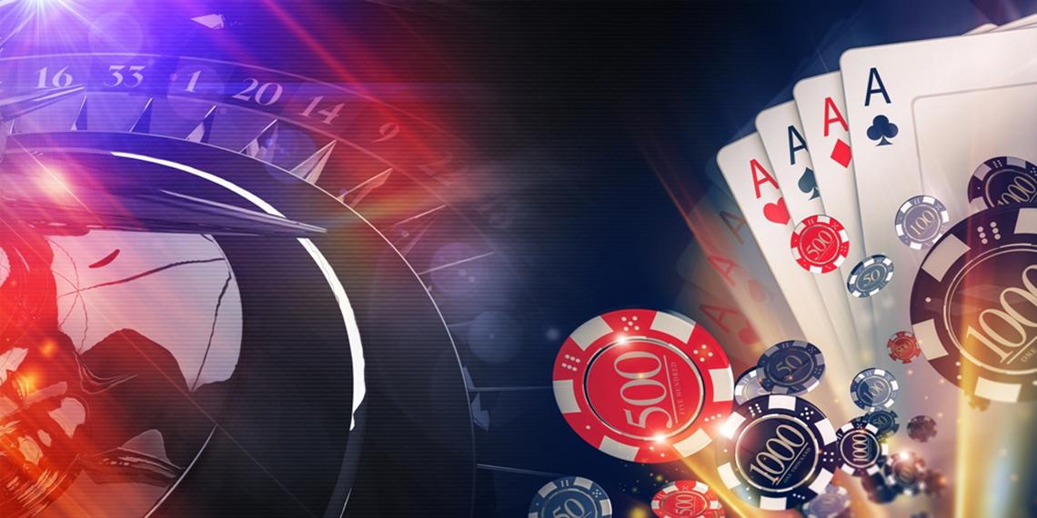 Conceptual Online Casino Gambling Illustration. 3D Rendered Imag